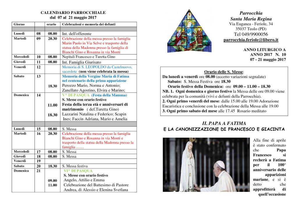 thumbnail of bollettino parrocchiale 07_05_2017 21_05_2017