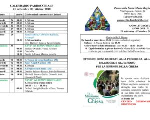 thumbnail of bollettino parrocchiale 23-09-2018 07-10-2018