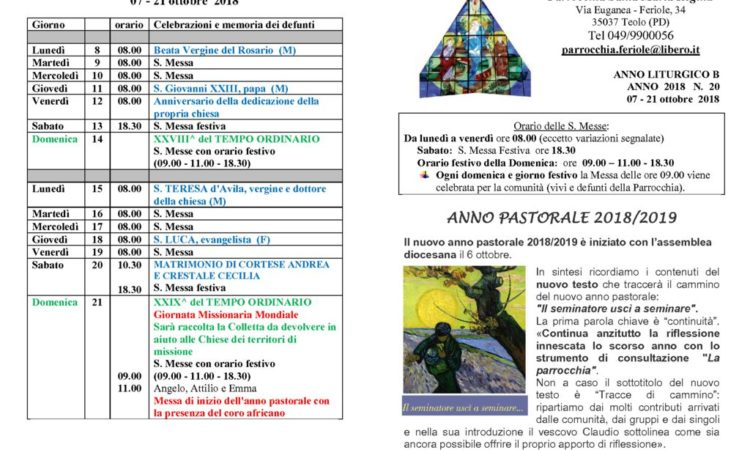 thumbnail of bollettino parrocchiale 07-10-2018 21-10-2018