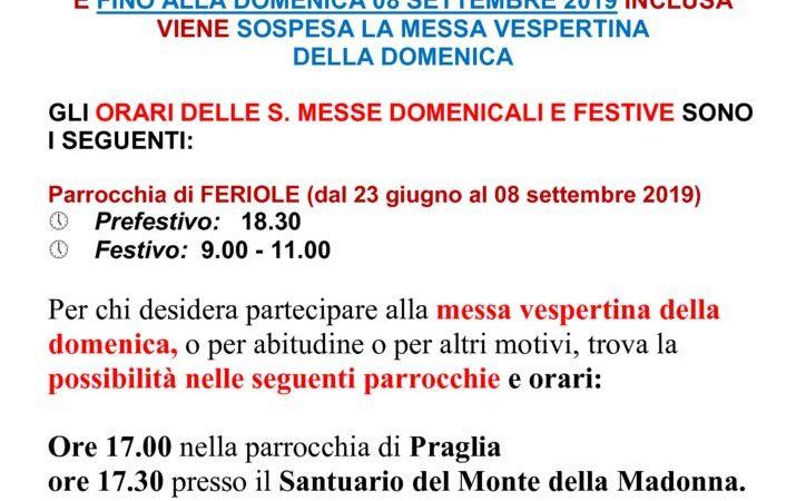 thumbnail of Nuovo Orario Sante Messe Estate 2019