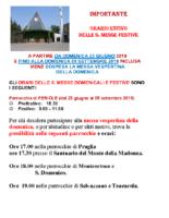 Nuovo Orario Sante Messe Estate 2019