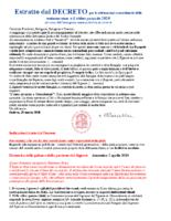 Decreto per le celebrazioni straordinarie della settimana santa e il triduo pasquale 2020
