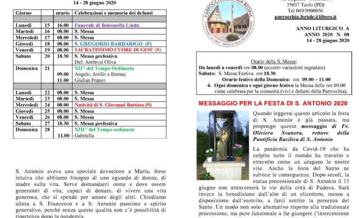 thumbnail of bollettino parrocchiale 14-06-2020 28-06-2020